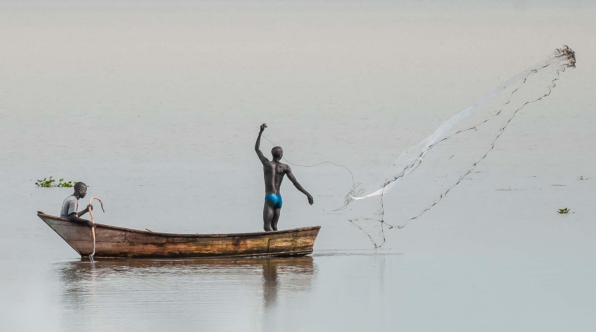 Fishermen, Nile River, Uganda