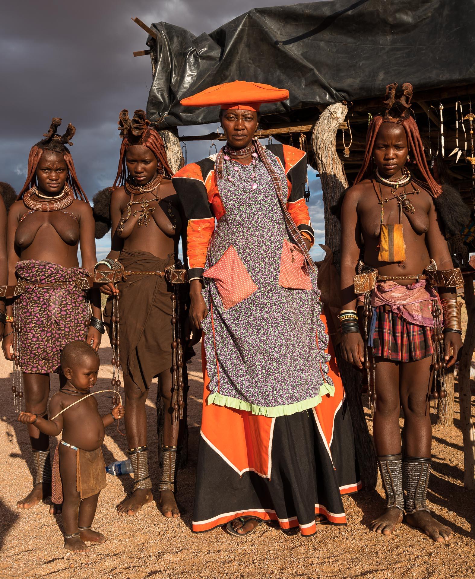 Herrero Woman with Himba Women, Namibia