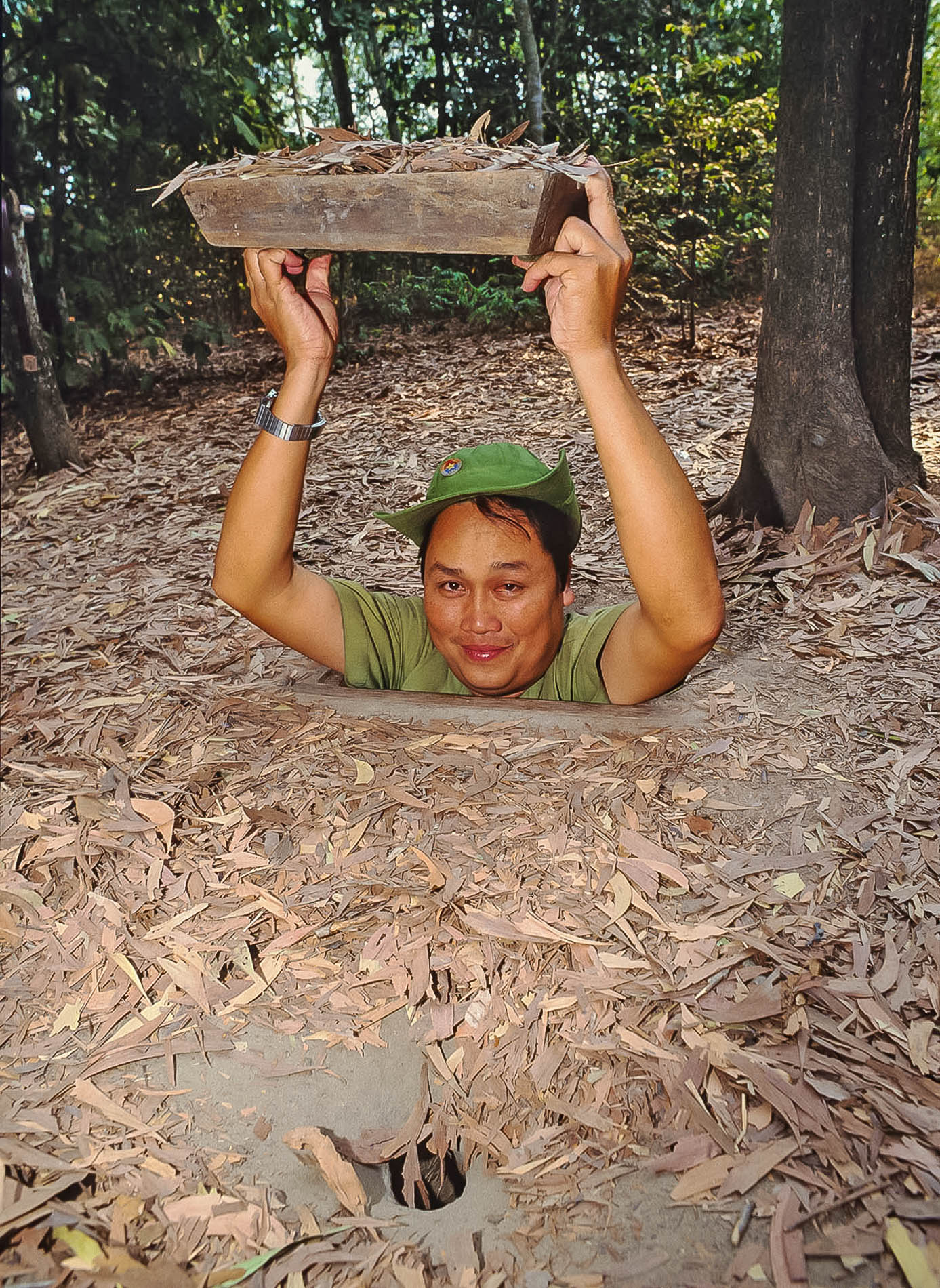 Guide at Cu Chi Tunnels, Vietnam